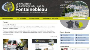 Site internet Pays de Fontainebleau
