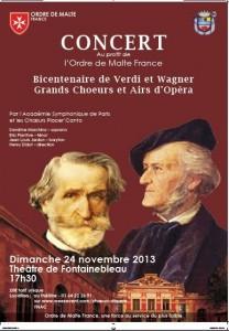 Concert au profit de l'Ordre de Malte au théâtre municipal de Fontainebleau