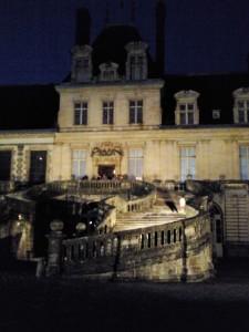 visite à la belle étoile au château de Fontainebleau