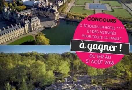 Fontainebleau Tourisme et le site Familiscope vous proposent de gagner deux séjours en hôtel…
