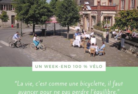 Prêt(e) pour une balade à vélo dans les villages de caractère, près de la…