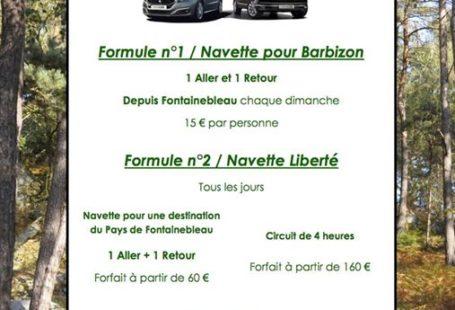 Navettes pour une destination du Pays de Fontainebleau Fontainebleau-Barbizon L'Office de Tourisme du Pays…