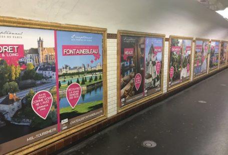 Fontainebleau en campagne dans le métro parisien dans le cadre des Paris Plus. Participez…