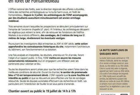 ONF : la butte Saint-Louis interdite au public L'Office national des forêts, avec la…