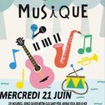 Mercredi 21 juin Fête de la musique édition 2017 à l'espace Olivier Métra À…