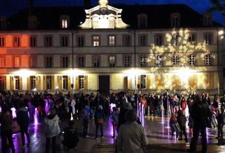 Inauguration de la Place de la République à Fontainebleau Vendredi dernier. Un lieu à…