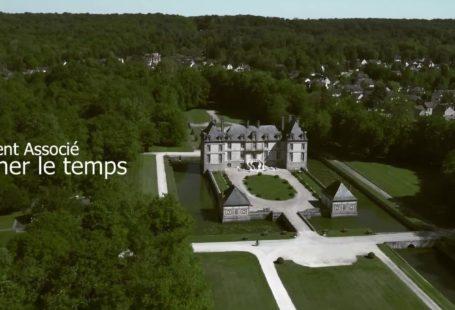 La rénovation de l'escalier du château de Bourron. Grâce à une opération de mécénat…