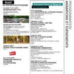 Profitez des activités et animations organisées par le centre d'écotourisme pour ce mois d'août…