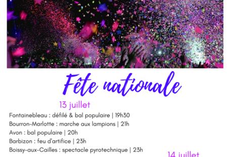 Que se passe-t-il ce week-end en Pays de Fontainebleau pour la fête nationale ?…