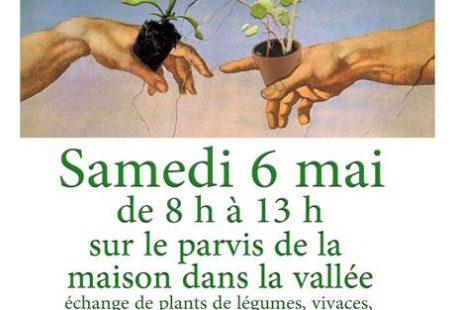 Une animation pour les amateurs de nature: TROC PLANTES! Samedi 6 mai, de 8h…