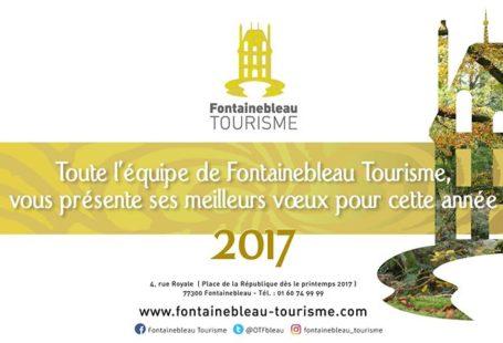 #2017 Toute l'équipe de Fontainebleau Tourisme vous souhaite une très belle année 2017 !…